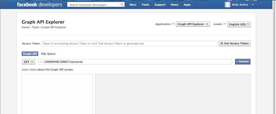 Facebook Graph API Explorer